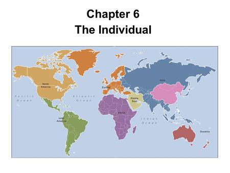 Chapter 6 The Individual.