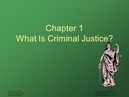 Chapter 1 What Is Criminal Justice?