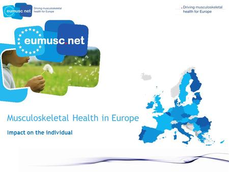 Musculoskeletal Health in Europe Impact on the individual.