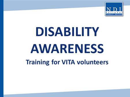 Training for VITA volunteers