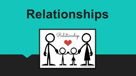 Relationships are the connections you have with other people and groups in your life.