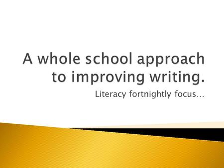 Literacy fortnightly focus….  An apostrophe looks just like a comma, but instead of being written on the line it floats higher in the air.  You should.
