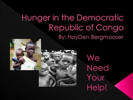 We Need Your Help!. 9925 million people suffered from hunger in 2010. 2263 million are all from Sub-Saharan Africa and North and Eastern part of Africa.