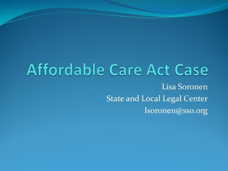 Lisa Soronen State and Local Legal Center