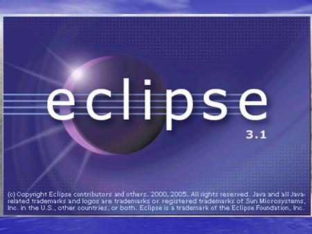 Eclipse overview An IDE for anything and nothing An IDE for anything and nothing –What's an IDE? –What for? A little bit of history (not too much) A little.