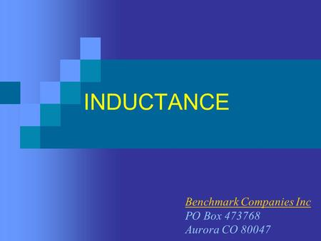 ELECTRONICS TECHNOLOGY INDUCTANCE