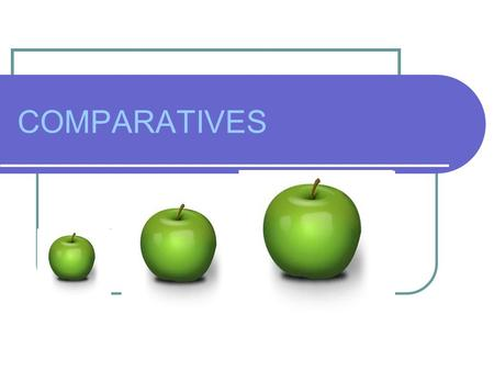 COMPARATIVES. COMPARISON OF ADJECTIVES One-syllable adjectives and two-syllable adjectives ending in –y add –er small nice big warm hot pretty dirty smaller.