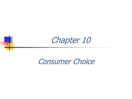 Chapter 10 Consumer Choice. 1. What is behind the law of demand? The law of demand can be explained in terms of the concept of utility theory. 2. Utility.