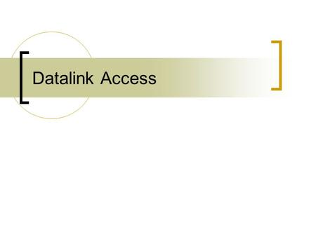 Datalink Access. Provides access to the datalink layer for an application Capabilities  Ability to watch the packets received by the datalink layer 