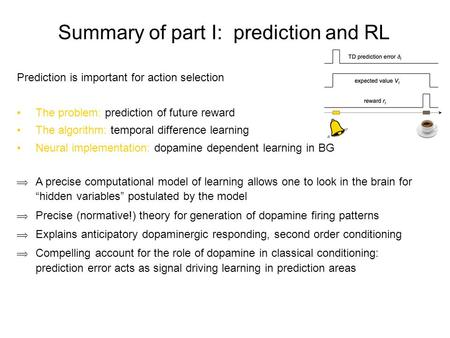 Summary of part I: prediction and RL