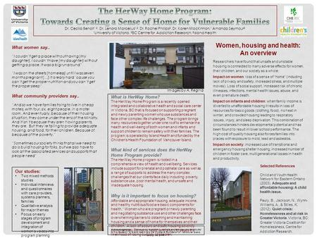What is HerWay Home? The HerWay Home Program is a recently opened integrated and collaborative health and social care center in Victoria, BC that is focused.