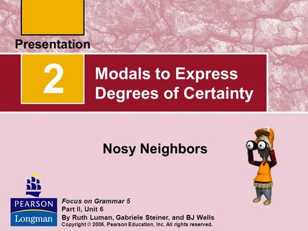 Modals to Express Degrees of Certainty