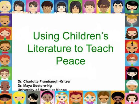 Using Children's Literature to Teach Peace