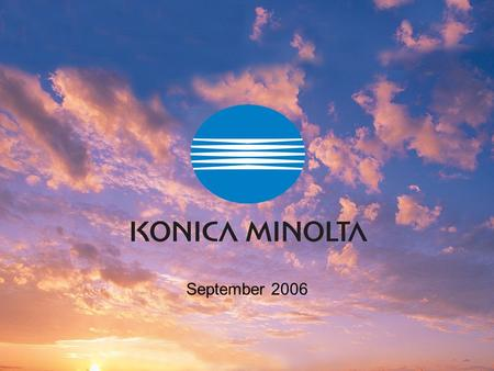 KONICA MINOLTA PRINTING SOLUTIONS U.S.A., Inc. September 2006.
