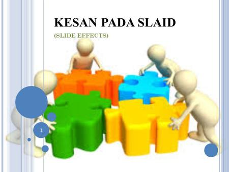 KESAN PADA SLAID (SLIDE EFFECTS) 1. ISI KANDUNGAN 1. Transisi Slaid Slide Transitions 2. Pergerakan Slaid Slide Animation 3. Pra-Tayangan Pergerakan Animation.