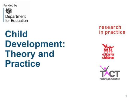 Child Development: Theory and Practice 1. Why is child development important? Evidence that social workers have limited training and knowledge about child.
