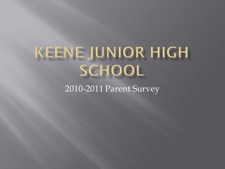 2010-2011 Parent Survey. In an effort to get feedback from the parents of our students, a survey was conducted at the end of the first six weeks. As part.