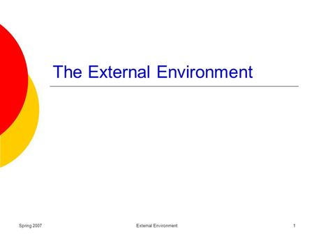 external environment and organizations strategy Organizational environment denotes internal and external environmental factors   these strategic partners in some way influence the organization's activities in.