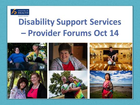Disability Support Services – Provider Forums Oct 14.