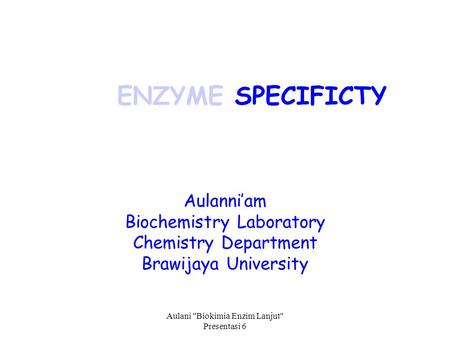 biochemistry lab enzymes Chromatin remodeling and modifying enzymes in differentiation and cancer   our lab uses biochemical, cell biological and molecular approaches to.