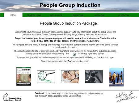 People Group Induction