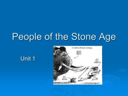 People of the Stone Age Unit 1.