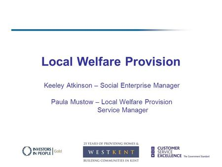 Local Welfare Provision