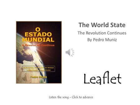 The World State The Revolution Continues By Pedro Muniz Leaflet.