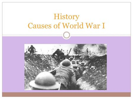 "History Causes of World War I. World War I (1914–1918) Imperial, territorial, and economic rivalries led to the ""Great War"" between the Central Powers."