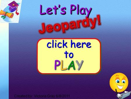 1 Let's Play Created by: Victoria Gray 6/8/2011 2 $300 $200 $100 $300 $100 $200 $100 $200 $300 $100 $200 $300 $100 $400 $500 $400 $500 $400 $500 $400.