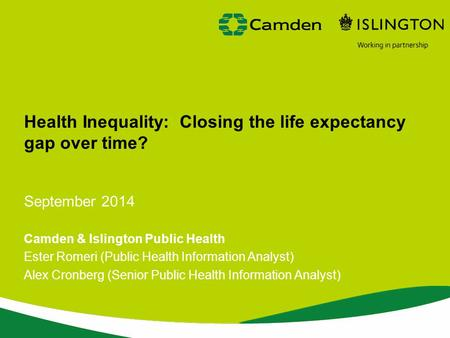 Health Inequality: Closing the life expectancy gap over time?