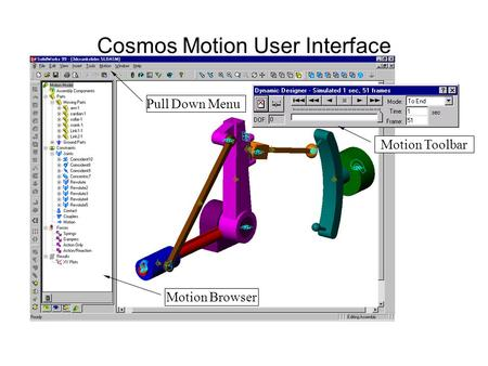 Cosmos Motion User Interface