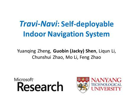 Travi-Navi: Self-deployable Indoor Navigation System