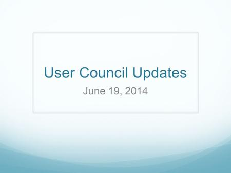User Council Updates June 19, 2014. New Graduation Requirements Available on the ODE WebsiteODE Website The new graduation requirements that take effect.