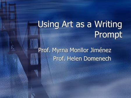 Using Art as a Writing Prompt