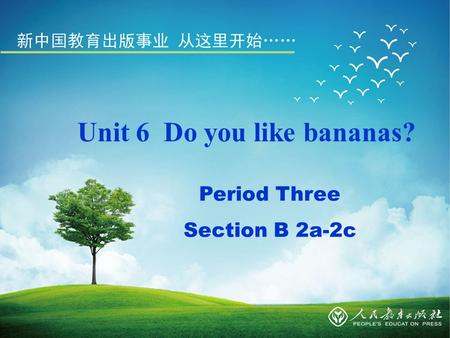 Unit 6 Do you like bananas? Period Three Section B 2a-2c.