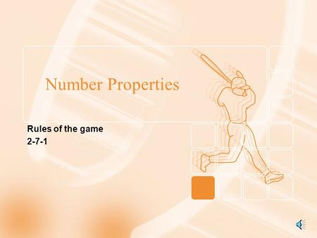 Number Properties Rules of the game 2-7-1.