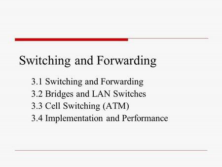 switching in computer networks pdf