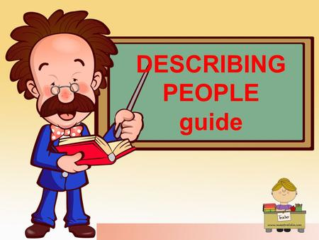 DESCRIBING PEOPLE guide. 1st: INTRODUCING PEOPLE NAME and SURNAME: He is Carl Brown AGE: He is 10 years old. NATIONALITY: He is English. JOB: He is a.