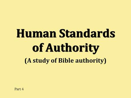Human Standards of Authority