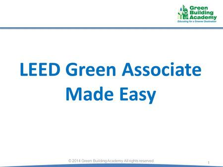 LEED Green Associate Made Easy