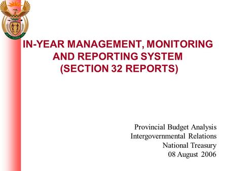 Provincial Budget Analysis Intergovernmental Relations