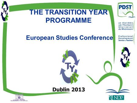 THE TRANSITION YEAR PROGRAMME European Studies Conference Dublin 2013.