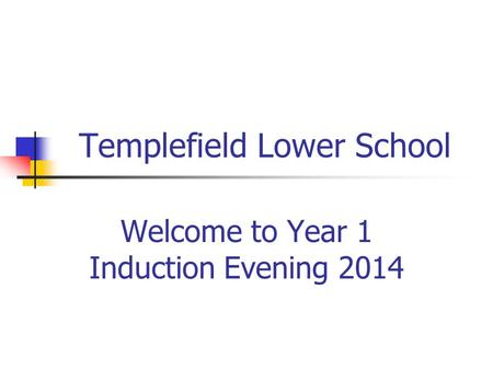 Templefield Lower School