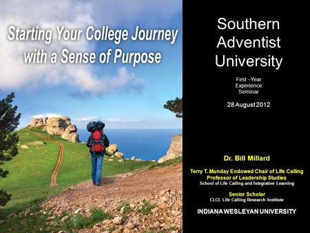 Starting Your College Journey with a Sense of Purpose