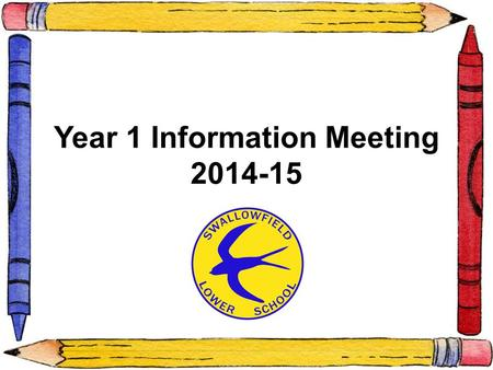 Year 1 Information Meeting 2014-15. The Teachers Miss Davison (Y1D) Miss Goodricke and Mrs Clarke (Y1GC) The Support Staff Mrs McCotterMrs Faulkner and.