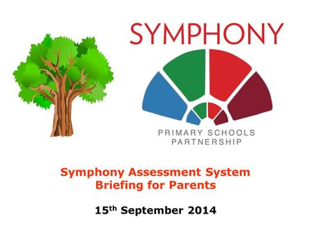 Symphony Assessment System Briefing for Parents 15 th September 2014.