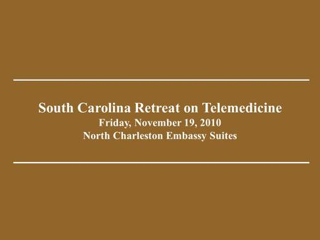 South Carolina Department of Mental Health Telepsychiatry Consultation Program Partners in Behavioral Health Emergency Services Achieving Tomorrow, Today.