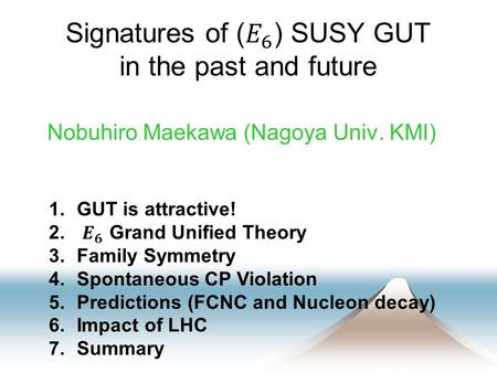 Nobuhiro Maekawa (Nagoya Univ. KMI) TexPoint fonts used in EMF. Read the TexPoint manual before you delete this box.: AA.