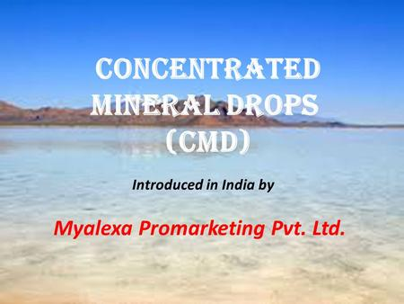 Concentrated Mineral Drops (Cmd)